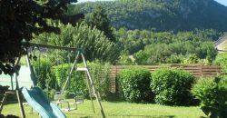 gite le praz jardin vue montagne