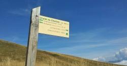 Panneau indicateur randonnée Charbon